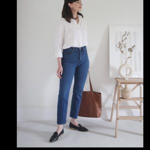 EVERLANE/ high rise straight ankle jean